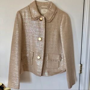 Kate Spade Champagne Gold Iridescent Jacket